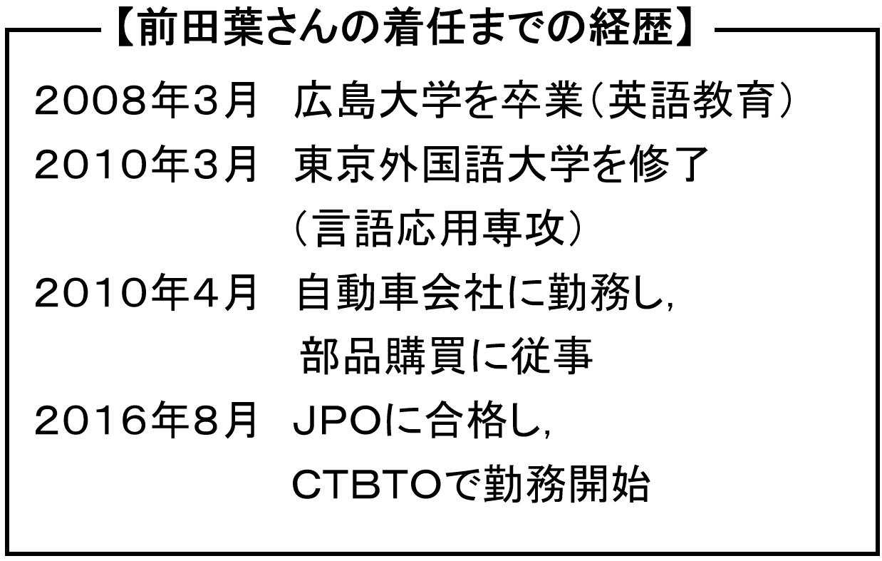 CTBTO行財政局調達課 前田葉 さんへのインタビュー   在ウィーン国際 ...
